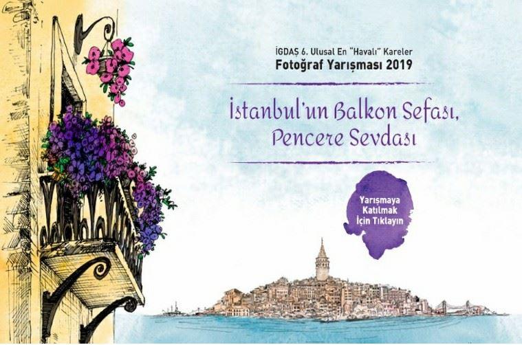 """6. Ulusal En """"Havalı"""" Kareler Fotoğraf Yarışması görselidir. Görselde balkon ve İstanbul'un silüeti görülmektedir."""