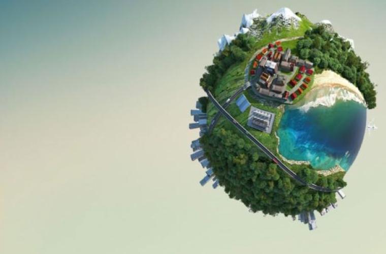 Enerji Verimliliği Konulu Ödüllü Resim Yarışması görselidir. Yeşil ve güzel bir dünya resmi vardır.