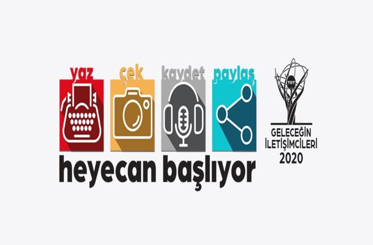 TRT Geleceğin İletişimcileri Yarışması'nın duyurusu. Üzerinde klavye, fotoğraf makinesi, mikrofonun olduğu görselde 'heyecan başlıyor' yazıyor.