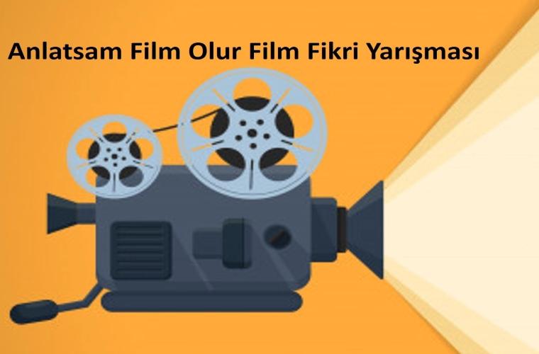 Anlatsam Film Olur Film Fikri Yarışması görselidir. Eski sinema görseli vardır.