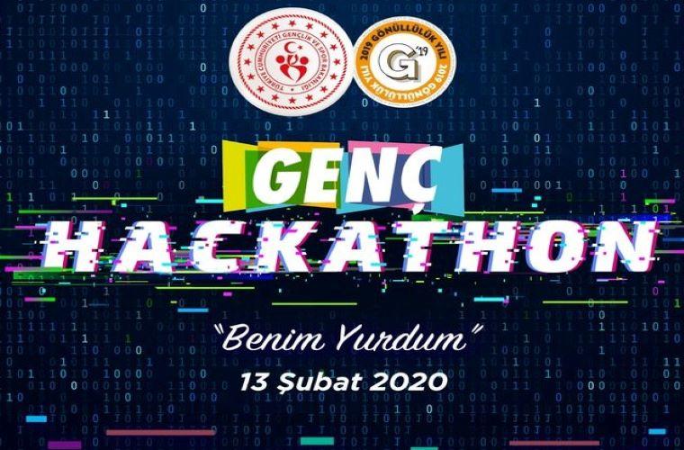 Genç Hackathon Yarışması duyuru görselidir.