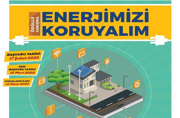 KTO Karatay Üniversitesi Enerji Verimliliği Proje Yarışması görselidir. Görselde yarışma adı ve enerji verimliliği konulu ev ve yaşam alanı vardır.