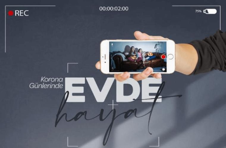 Beykoz Evde Kısa Film Yarışması görselidir. Görselde telefonun içerisinde ev manzarası görülmektedir.