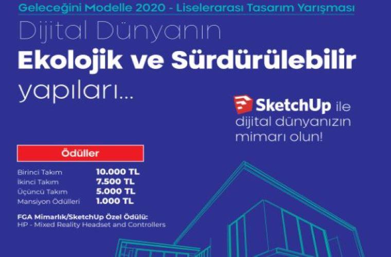Geleceğini Modelle 2020 Liselerarası Öğrenci Tasarım Yarışması görselidir.