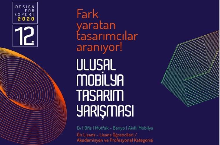 Ulusal Mobilya Tasarım Yarışması görselidir. Görselde çizimler ve tasarım öğeleri var.