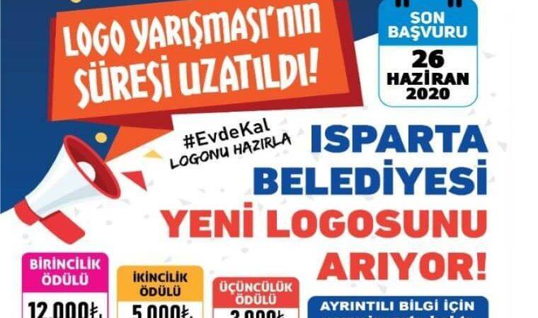 Isparta Belediyesi Logo Tasarım Yarışması duyuru görselidir. Görselde megafon yer almakta ve renkli yazılarla yarışma bilgileri yer almaktadır.