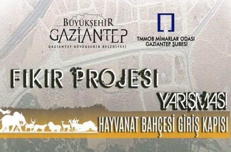 Gaziantep Büyükşehir Belediyesi Hayvanat Bahçesi Giriş Kapısı Fikir Projesi Yarışması duyuru görselidir.