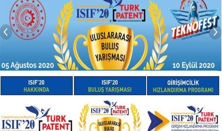ISIF Uluslararası Buluş Yarışması 2020 duyuru görselidir.