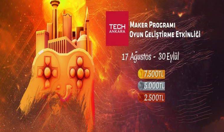 TechAnkara Maker Programı Oyun Geliştirme Yarışması duyuru görselidir.