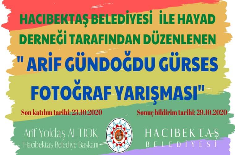 Hacıbektaş Belediyesi Fotoğraf Yarışması duyuru görselidir.