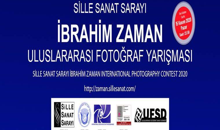 Sille Sanat Sarayı İbrahim Zaman Uluslararası Fotoğraf Yarışması duyuru görselidir.