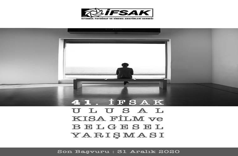 İFSAK Ulusal Kısa Film ve Belgesel Yarışması duyuru görselidir.