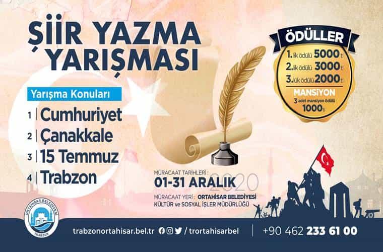 Ortahisar Belediyesi Şiir Yarışması