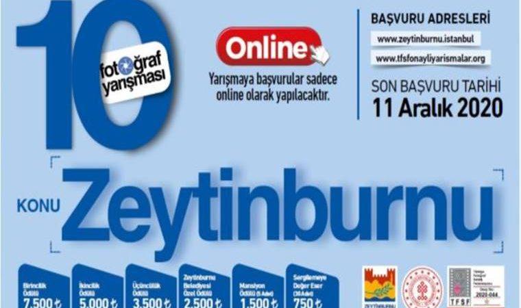 Zeytinburnu Belediyesi Ulusal Fotoğraf Yarışması duyuru görselidir.