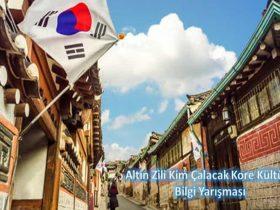 Altın Zili Kim Çalacak Kore Kültürü Bilgi Yarışması duyuru görselidir.