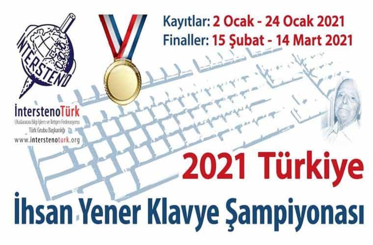 İhsan Yener Klavye Şampiyonası Yarışması duyuru görselidir. Görselde bir klavye görülmektedir.
