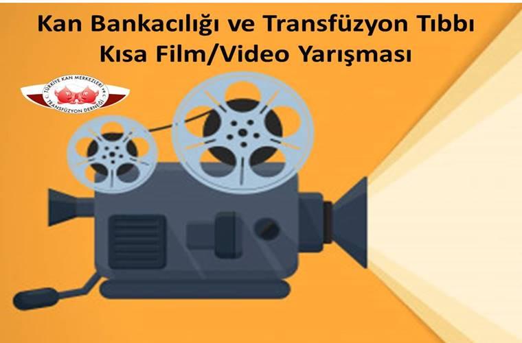 Kan Bankacılığı ve Transfüzyon Tıbbı Kısa Film/Video Yarışması duyuru görselidir.