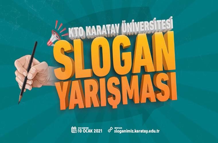 KTO Karatay Üniversitesi Slogan Yarışması duyuru görselidir.