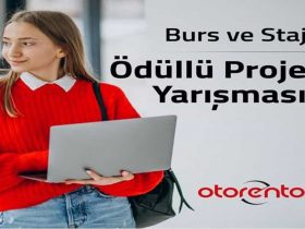 Otorento Burs ve Staj Ödüllü Kullanıcı Deneyimi Proje Yarışması duyuru görselidir.