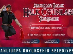 Abdullah Balak Online Halk Oyunları Solo Yarışması duyuru görselidir.