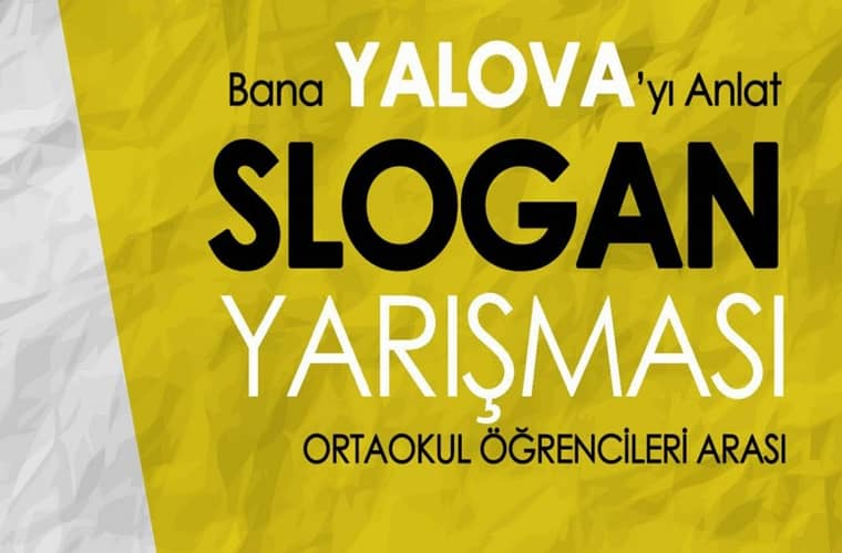 Bana Yalova'yı Anlat Slogan Yarışması duyuru görselidir.