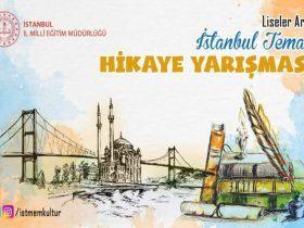 İstanbul Temalı Hikâye Yarışması duyuru görselidir.