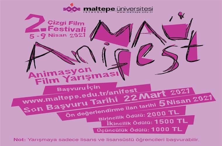 Maltepe Üniversitesi Anifest 2021 Animasyon Film Yarışması duyuru görselidir.
