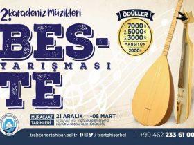 Ortahisar Belediyesi Karadeniz Müzikleri Beste Yarışması duyuru görselidir.