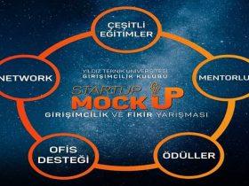 Startup Mockup Girişimcilik ve Fikir Yarışması duyuru görselidir.