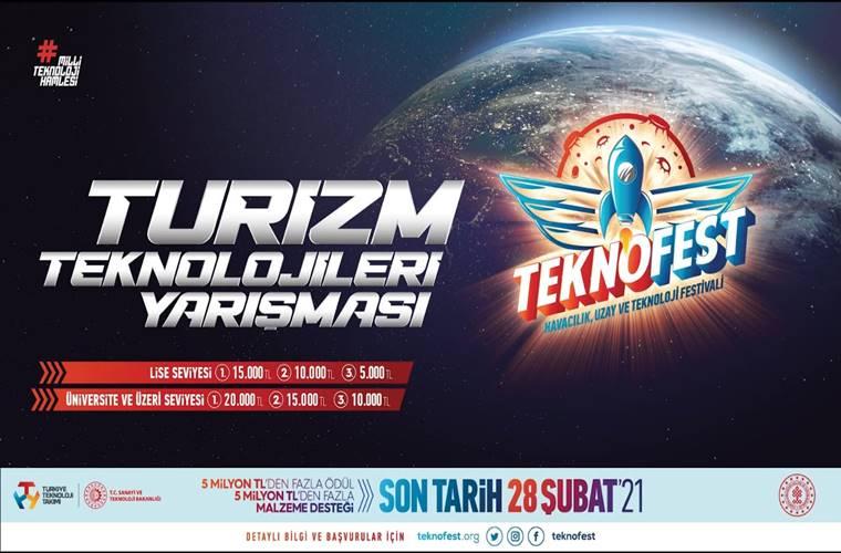 TEKNOFEST Kültür ve Turizm Teknolojileri Yarışması duyuru görselidir.