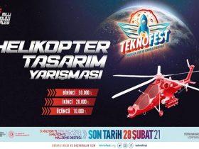 TEKNOFEST Helikopter Tasarım Yarışması duyuru görselidir.