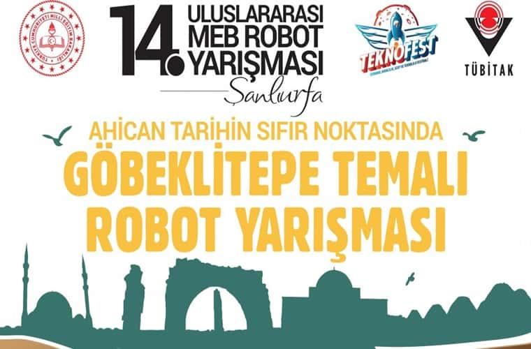 Uluslararası MEB Robot Yarışması duyuru görselidir.