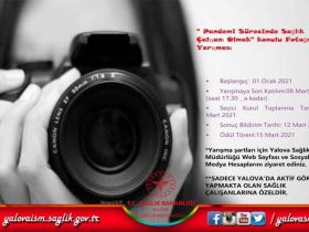 14 Mart 2021 Tıp Bayramı Fotoğraf Yarışması duyuru görselidir.