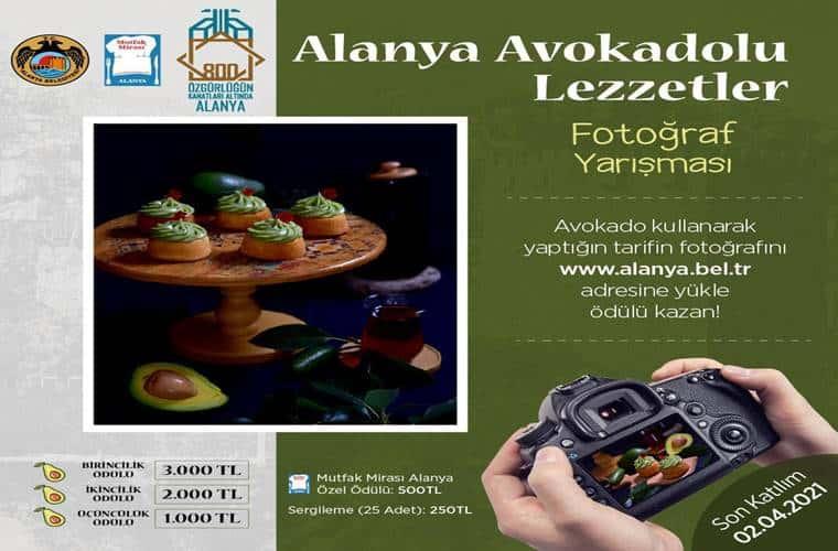 Alanya Avokadolu Lezzetler Fotoğraf Yarışması duyuru görselidir.