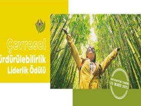 Çevresel Sürdürülebilirlik Liderlik Ödülü duyuru görselidir.