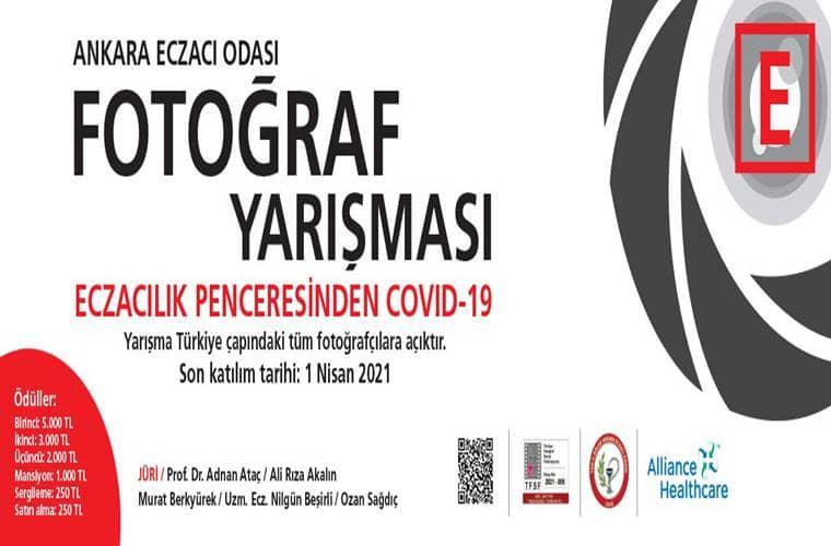 Eczacılık Penceresinden Covid-19 Ulusal Fotoğraf Yarışması duyuru görselidir.