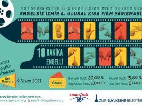 Engelsiz İzmir Ulusal Kısa Film Yarışması duyuru görselidir.