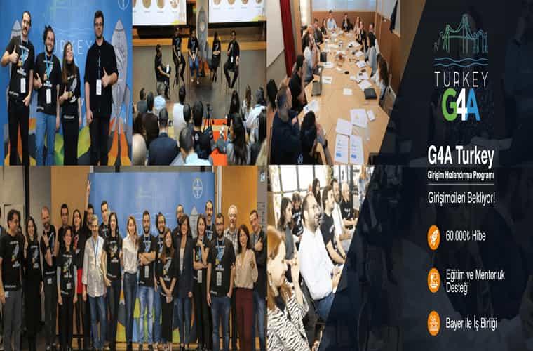 G4A Turkey Girişimcilik Yarışması duyuru görselidir.