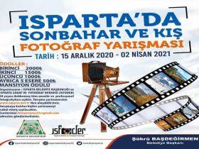 Isparta Belediyesi Fotoğraf Yarışması duyuru görselidir.