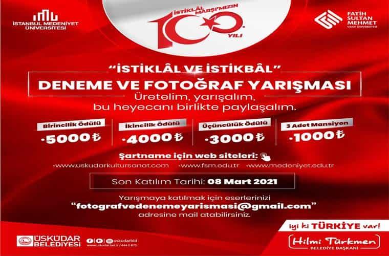 İstiklâl ve İstikbâl Fotoğraf Yarışması duyuru görselidir.