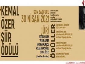 Kemal Özer Şiir Ödülü 2021 duyuru görselidir.