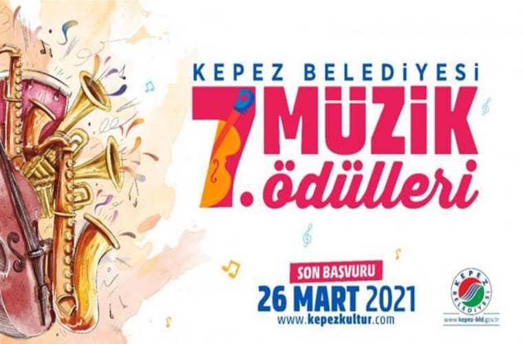 Kepez Belediyesi Ulusal Müzik Ödülleri Yarışması duyuru görselidir.