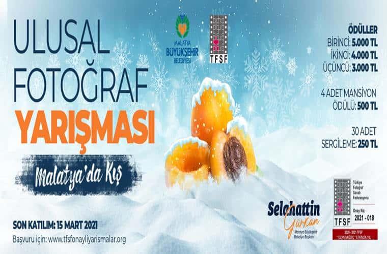 Malatya Büyükşehir Belediyesi Ulusal Fotoğraf Yarışması duyuru görselidir.