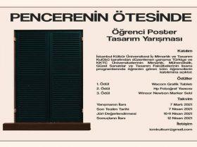 Pencerenin Ötesinde Öğrenci Poster Tasarım Yarışması duyuru görselidir.