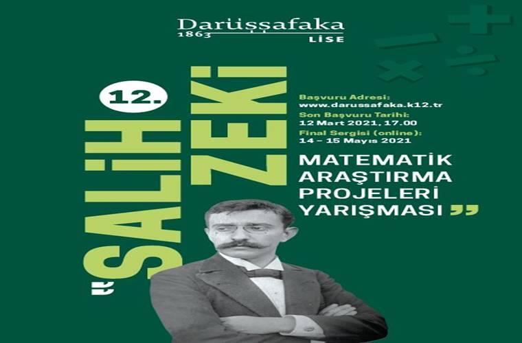 Salih Zeki Matematik Araştırma Projeleri Yarışması duyuru görselidir.