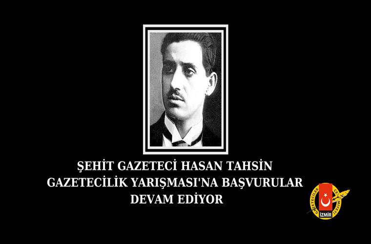 Şehit Gazeteci Hasan Tahsin Gazetecilik Yarışması duyuru görselidir.