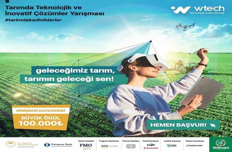 Tarımda Teknolojik ve İnovatif Çözümler Yarışması duyuru görselidir.