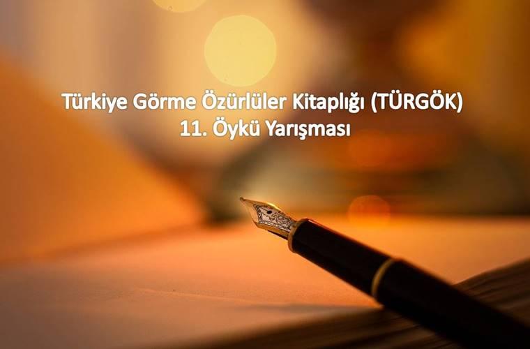 Türkiye Görme Özürlüler Kitaplığı Öykü Yarışması duyuru görselidir.