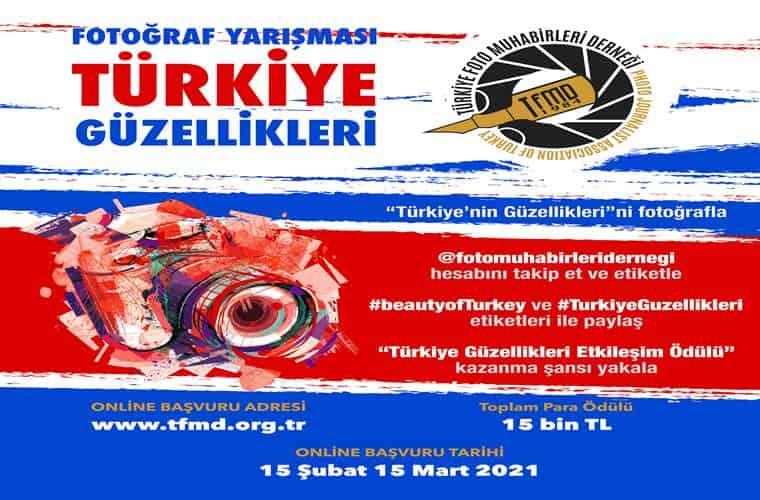 Türkiye Güzellikleri Fotoğraf Yarışması duyuru görselidir.