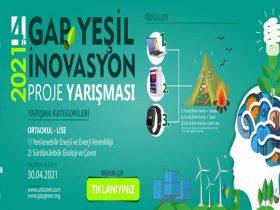GAP Yeşil İnovasyon Proje Yarışması duyuru görselidir.